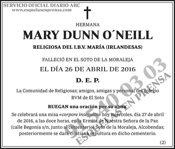Mary Dunn O´Neill